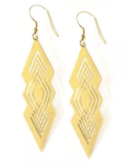 gold to the point earrings