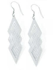 silver to the point earrings